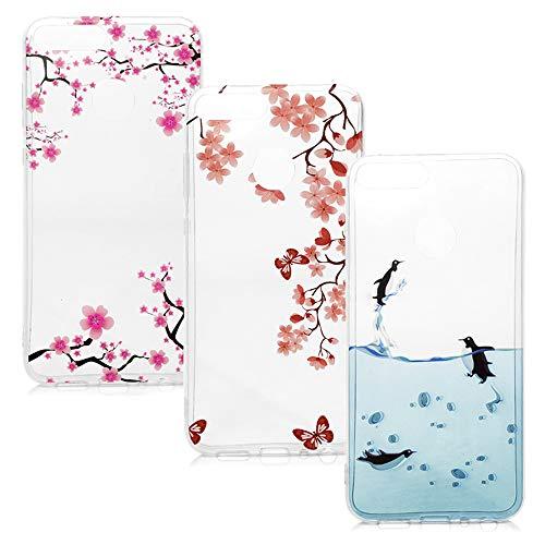 Honor 9 Lite Handyhülle Huawei Honor 9 Lite Hülle Silikon Case Cover Silicone Transparent Tasche Durchsichtige Schutzhülle Softcase Handytasche Dünn Skin Schale Bumper*3 Silikonhüllen Mädchen-Set4