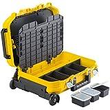 Stanley FatMax Werkzeugkoffer / Werkzeugbox (40x54x23.5cm, Werkzeugaufbewahrung mit Trolley und Teleskophandgriff, für Werkzeuge und Zubehör, fiberglasverstärkte Akkordeonstruktur) FMST1-72383