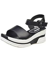 SMARTLADY Moda Mujeres Sandalias Zapatos de Peep toe