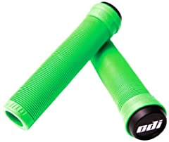 Idea Regalo - ODI, Impugnature Griffe BMX Longneck SL Flangeless, Verde (Lime Green), 143mm