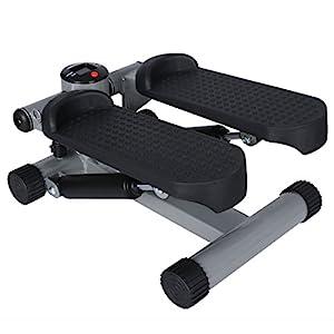 ANCHEER Swing Stepper mit Trainingsbändern, Hometrainer mit verstellbarem Widerstand und kabellosem Trainingscomputer, Up-Down-Stepper