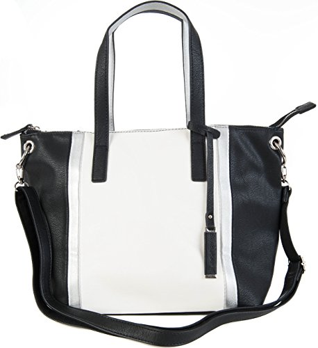 David Jones, Borsa a tracolla donna Nero/Bianco medium