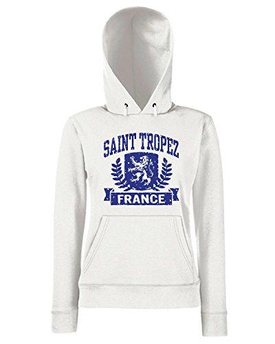 T-Shirtshock - Sweats a capuche Femme TSTEM0083 saint tropez france Blanc