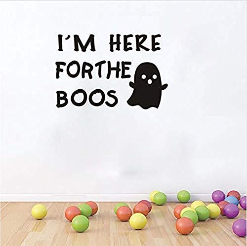 ckersI am here for Boos ghost Halloween party modern home decoration wall stickers children kindergarten bedroom wall art waterproof wallpaper 20x30cm ()