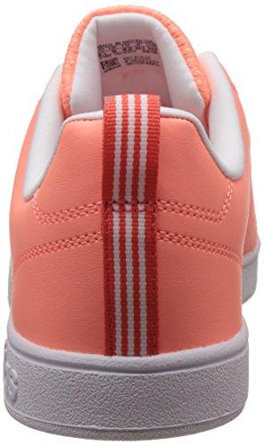 adidas Vs Advantage Clean, Sneakers Basses Femme, Core Black/Core Black/Light Orchid Orange (Sunglo/sunglo/eascor)