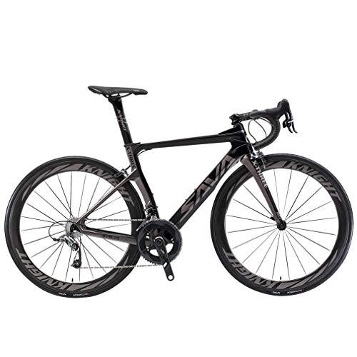 SAVADECK Phantom 2.0 700C Bicicleta de Carretera de Fibra de Carbono Shimano Ultegra R8000 22-Velocidad Sistema Michelin 25C Neumáticos Fi'zi:...