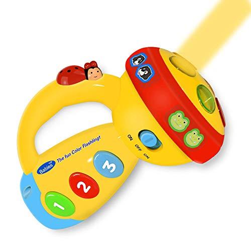 -2 Jährige, Kinder Taschenlampe Baby Musik Spielzeug für Kleinkinder Spielzeug Junge 1-2 Jahre Spielzeug für Mädchen 1-3 Jahre Jungen Geschenke 1-3 Jahre Baby Infant(Gelb) ()
