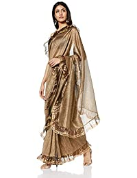 Rina Dhaka Women's Synthetic Without Blouse Piece Saree