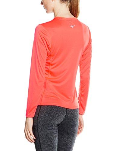 Mizuno femmes (Course) DRYLITE Core L/S Thé priorisation T-shirt de course à pied corail