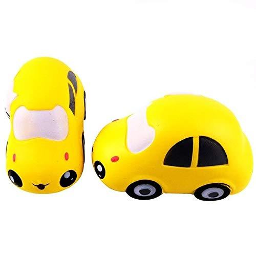 XuBa Cute Cartoon Car Langsam steigende Spielzeug Einzigartige Squishy Vent Spielzeug Kid Spielzeug Geschenk yellow