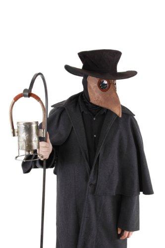 Pestdoktor Accessoire Set (Maske, Hut, offene Sturmmaske)