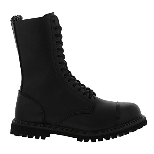 Grinders Herald 14 Eyelet Black Womens Boots