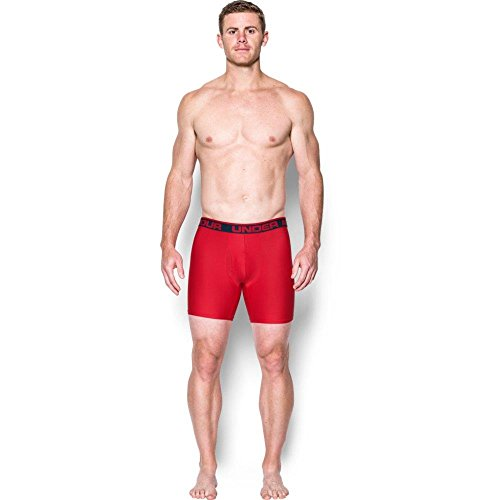 Under Armour Original 6in 2 Pack Novlty, Boxer Uomo academy-red (1299994-408)