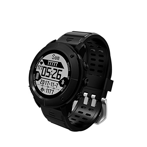 GPS Hiking Smart Watch,Reabeam,Adventurer Outdoor Sports Waterproof Watch,Multi-function Mode,for Tracking Running,Hiking,Heart Rate Monitor,SOS,Compass,Watch Connect with Smart Cellphone APP (black home style)