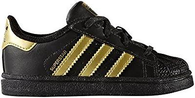 adidas superstar negras con dorado