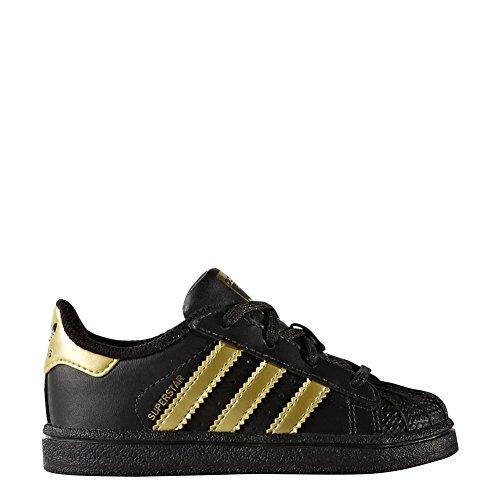 Zapatillas adidas - Superstar I negro/dorado/dorado talla: 20
