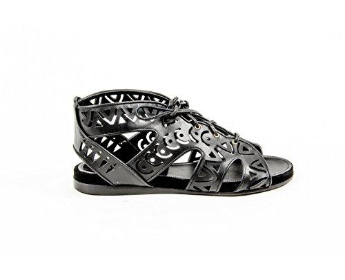 Parrice Womens Lace Up Sandal PS15S2 BLACK Black