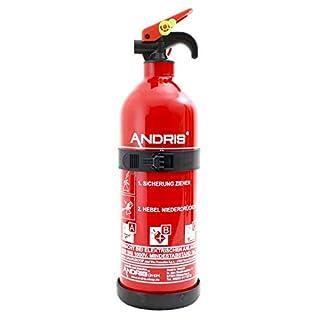 Feuerlöscher 1kg ABC Pulver Aufladelöscher mit KFZ/Boot Halterung EN3, Löschmittel:ABC Pulver