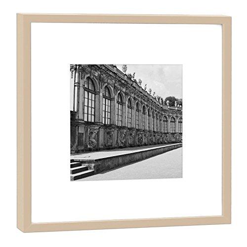 COGNOSCO RH-27-B100 Fotografie im Holzrahmen: Zwinger Fotodruck-Format 27 x 27 cm-Rahmenfarbe beige-Hochwertiges Wandbild, Geschenkidee oder Souvenir aus Dresden, Holz, Schwarz-Weiß Rahmen (Schwarze Holz-zwinger)