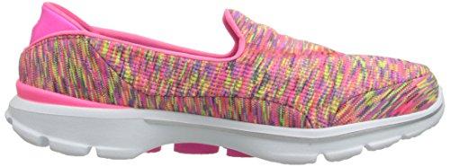 Skechers Go Walk 3Crazed, Baskets Basses Femme Rose - Pink (HPLM)