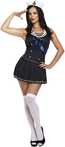 Damen Für Kostüm Best Dress Fancy - Unbekannt Sexy Blue Sailor ADULT FANCY DRESS COSTUME (Kostüm)