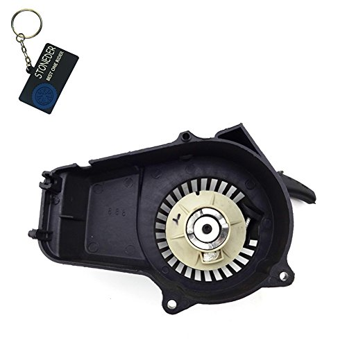 stoneder schwarz Kunststoff Pull Starter Motor Recoil für 2Takt 47cc 49cc Minimoto Pocket Dirt Bike Mini Moto ATV Quad 4Wheeler