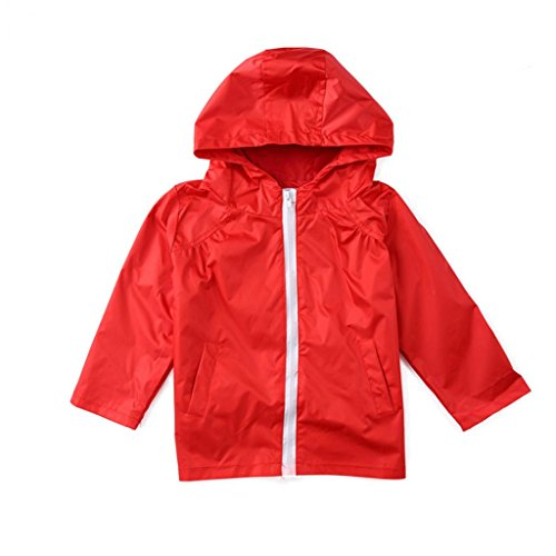 beiguoxia Kids Toddler Lightweight Waterproof Jacket Hooded Raincoat Outwear