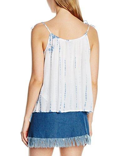 New Look Damen Top Strap Cami Blau - Blue (Blue Patterned)