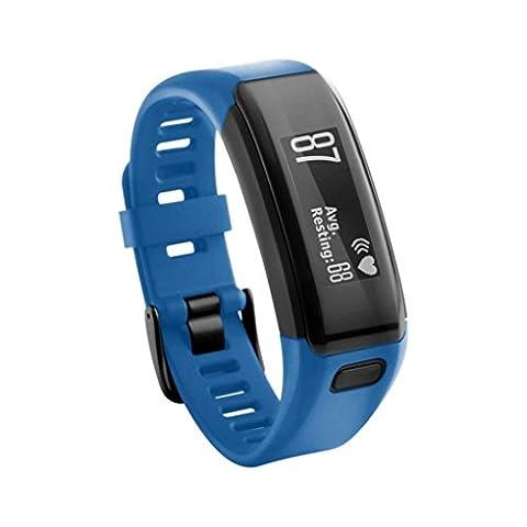 Hunpta Ersatz Soft Silikon Armband Sport Strap WristBand Zubehör für Garmin Vivosmart HR (Blau 1)