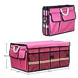 Cassiel Y Auto-Aufbewahrungsbox - Leicht Zu Reinigen, Klappbar, Aluminiumgriff (Pink),#3