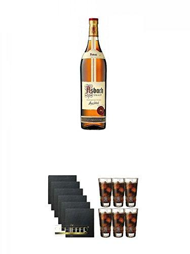 Asbach Uralt klassischer deutscher Weinbrand Magnumflasche 3,0 Liter + Schiefer Glasuntersetzer...
