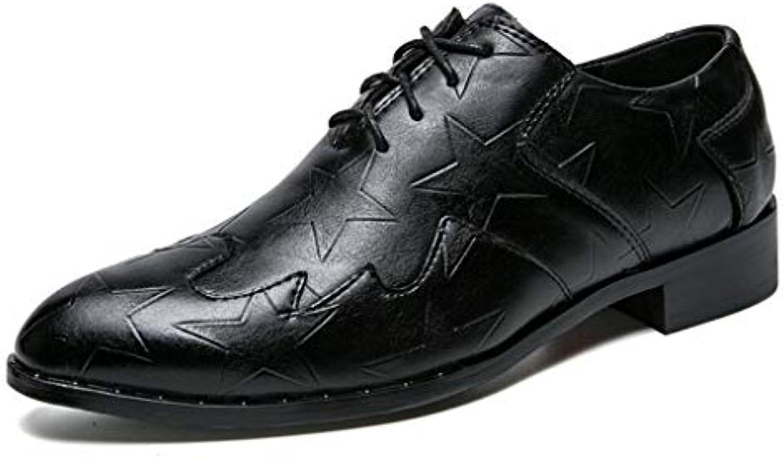 Nuevos Zapatos de Hombre, 2018 Zapatos de Cuero de Primavera, Zapatos de Negocios Formales, Zapatos de Vestir...