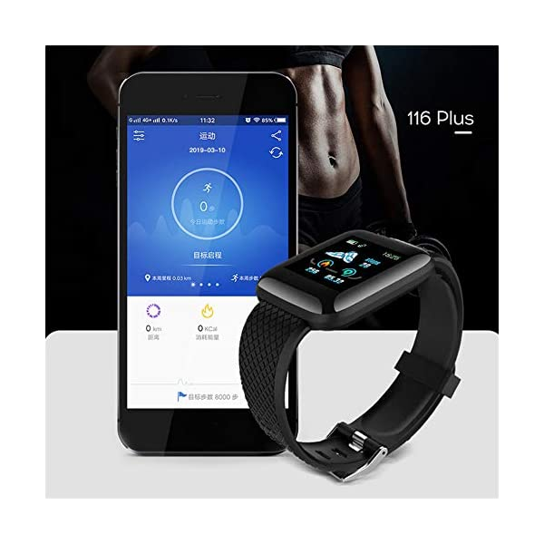 LEEBA Reloj Pulsera Inteligente, rastreador de Actividad física,Pantalla a Color Ritmo cardiaco Presión sanguínea… 5
