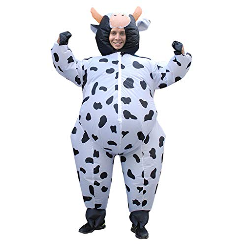Aufblasbare Kleidung Halloween Kostüm Kühe Rollenspiel Tier Adult Overall (Size : S)