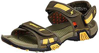Sparx Men's Olive Yellow Athletic & Outdoor Sandals - 10 UK (SS0428G)
