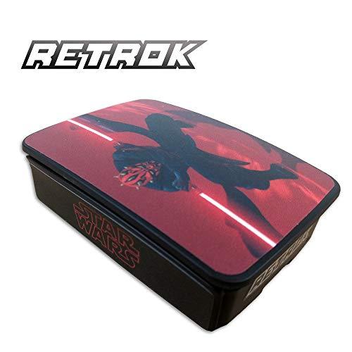 RetroK Case Raspberry + Set Pegatinas + Disipadores PI3B+ PI3B PI2 - Star Wars Darth Maul