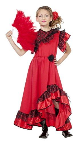 Spanien Kinder Kostüm Spanierin Flamenco Karneval Fasching (Für Kinder Spanien Kostüme)