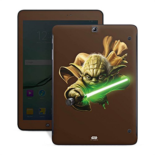 Preisvergleich Produktbild Samsung Galaxy Tab S2 9.7 Case Skin Sticker aus Vinyl-Folie Aufkleber Weihnachtsgeschenk für Männer Star Wars Merchandise Fanartikel Yoda Lichtschwert
