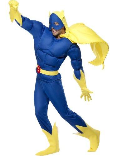 tüm für Herren Superheld Gr. L - XL, Größe:XL (Bananaman Kostüm)
