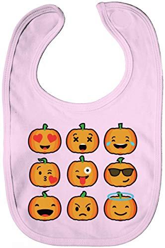 Gruppen Pumpkin Lätzchen Baumwolle Baby Bib Jungen Mädchen Halloween Emojis, Größe: onesize,Powder Pink ()