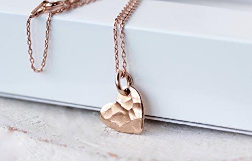 925 Silber Kette rose gold mit Herz 45cm Länge