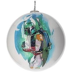 Star Wars Boba Fett sdtsdt89774- palla di Natale, bianco