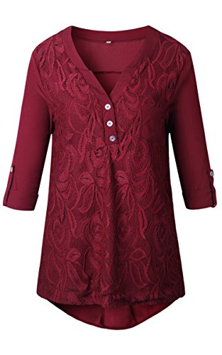 Ecowish - Camicia -  donna Red