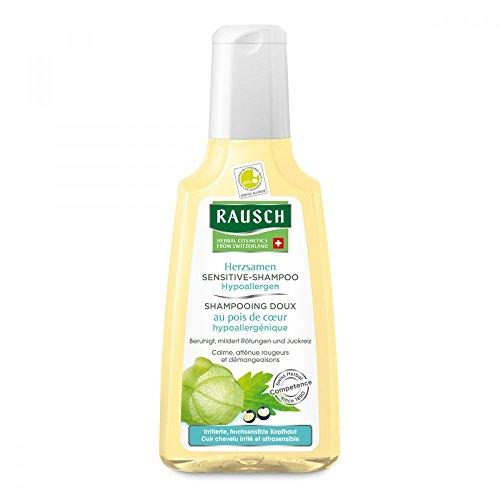 Rausch Herzsamen Sensitive-Shampoo (Hypoallergen pflegt besonders mild hochsensible Kopfhaut, ohne Silikone und Parabene - Vegan), 1er Pack (1 x 200 ml)