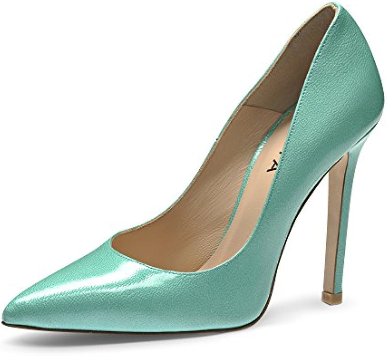 MIA Escarpins Femme Cuir Verni imprimé Turquoise 35B01B25NOJAParent | En En En Ligne  372d41