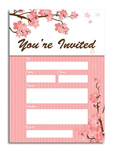 You 're invited Flower Füllen Einladungen-(25) 5x 7Karten mit Umschlägen-alle Anlässe Hochzeit, Bridal Dusche, Geburtstag, Baby Dusche