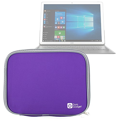 DURAGADGET Premium Quality Purple Lightweight & Shock-Absorbing Neoprene Sleeve/Case - Compatible with the NEW Huawei MateBook Tablet
