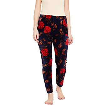 MAGIC Women's Woollen Velvet Leggings with 2 Pockets (Multicolour, XXL)