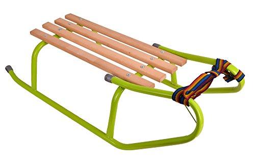 Schlitten Kinderschlitten mit Zugseil Holzschlitten Metall 80cm METALLSCHLITTEN (Polnische Schlitten)