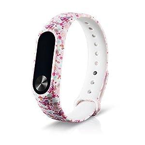 ❤️Xinan Nuevo patrón de pulsera de silicona WristBand Pulsera de repuesto Para XIAOMI MI Band 2 de Xinxinshidai